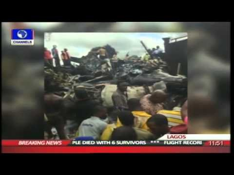 Video from Lagos plane crash site
