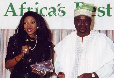 Patti Boulaye and Tunde Ajasa