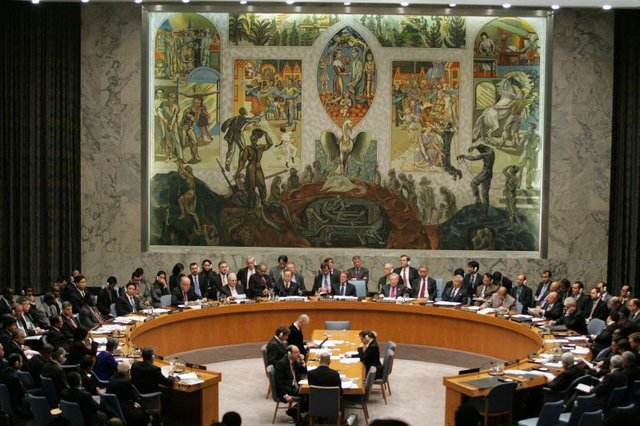 The UN Security Council in session