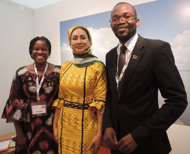 Fatou Jobe-Njie, Sally Mbanefo and Moses Kunkuyu Kalongashawa