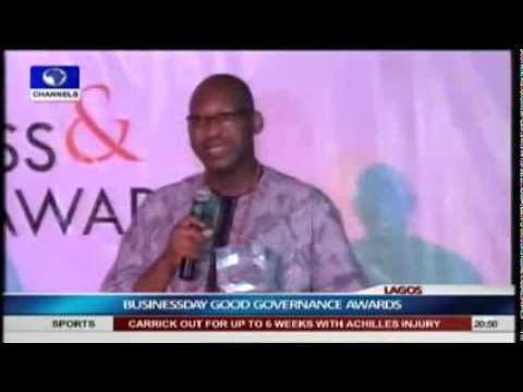 Patrick Obahiagbon's Award acceptance speech